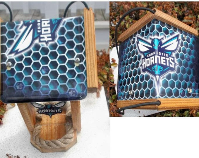 Charlotte Hornets Two Sided Cedar Bird Feeder