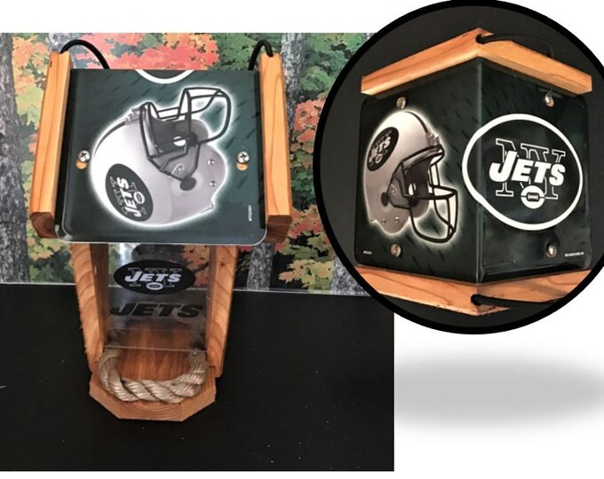 NY Jets Two-Sided Cedar Bird Feeder