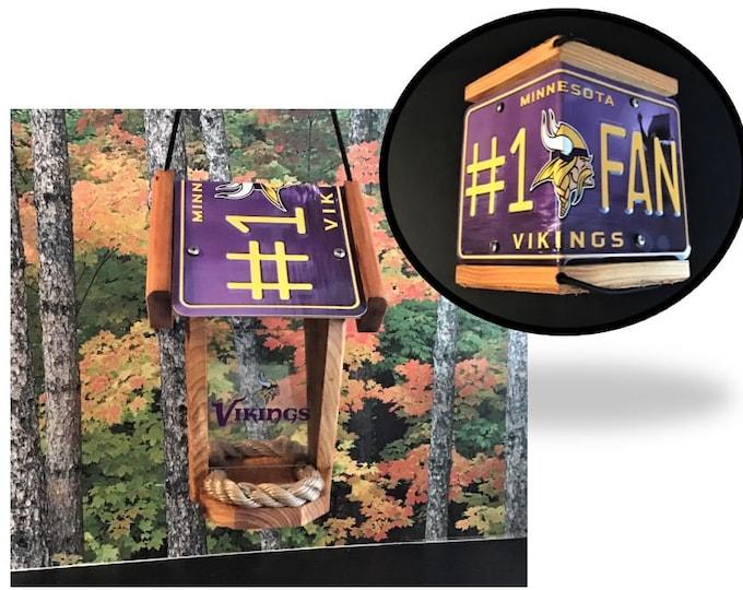 Minnesota Vikings #1 Fan Two-Sided Cedar Bird Feeder