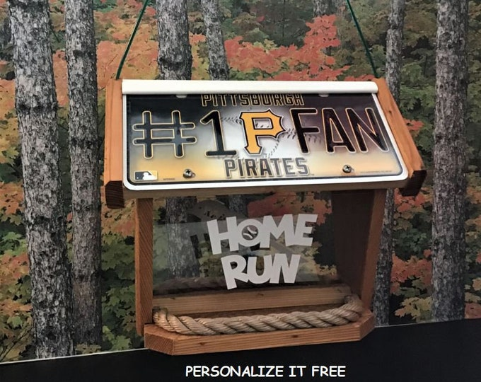 Pittsburgh Pirates #1 Fan Deluxe Cedar Two Sided Bird Feeder