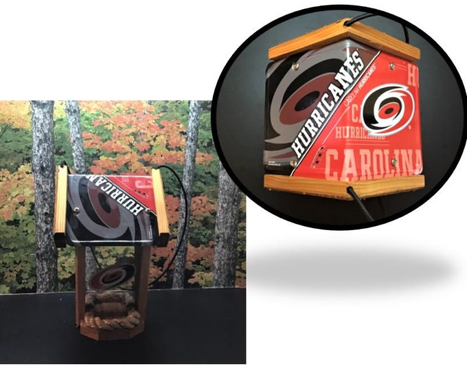 Carolina Hurricanes Two-Sided Cedar Bird Feeder (SI Series)