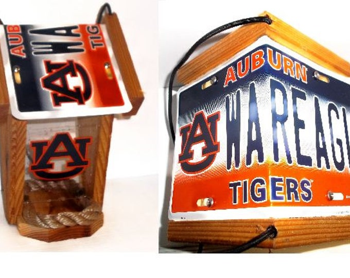Auburn University Two-Sided Cedar Bird Feeder