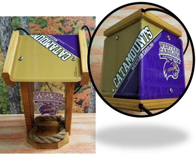 Western Carolina Catamounts Two-Sided Cedar Bird Feeder (SI series)