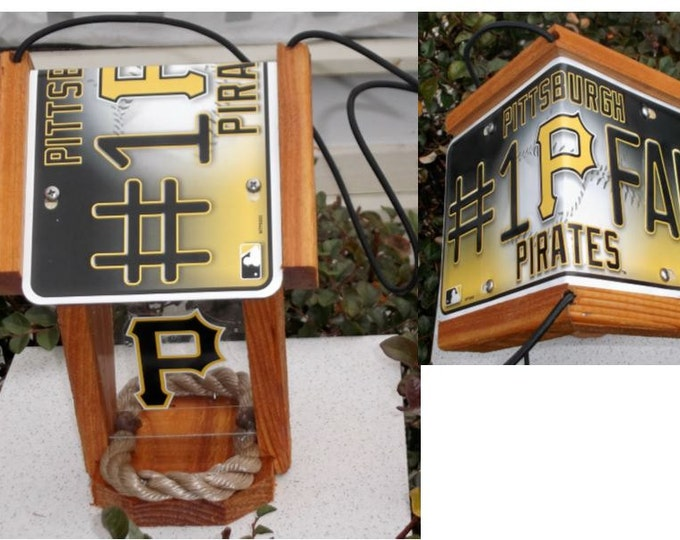 Pittsburgh Pirates #1 Fan Two-Sided Cedar Bird Feeder