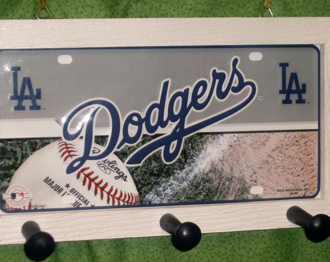 LA Dodgers License Plate Peg Hanger