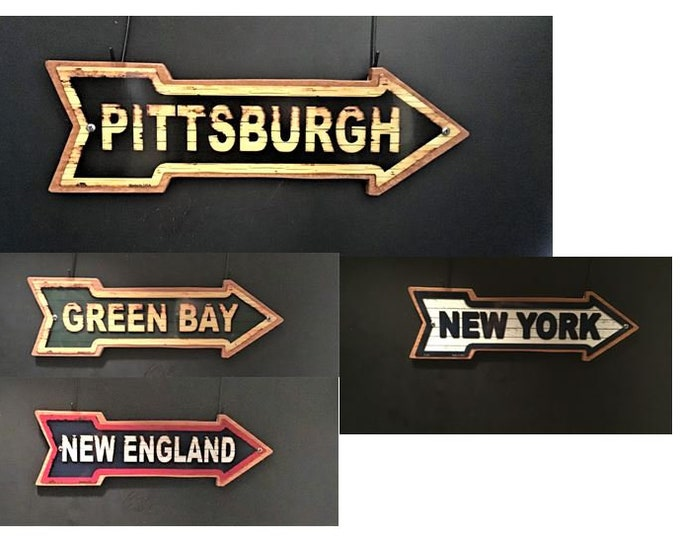 Team Wood/Metal Arrow Signs