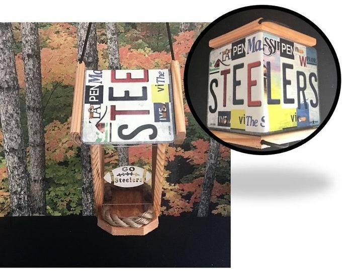 Pittsburgh Steelers Cedar two-sided Bird Feeder (cut strip series)