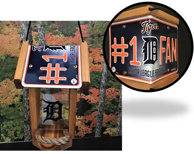 Detroit Tigers #1 Fan Two-Sided Cedar Bird Feeder