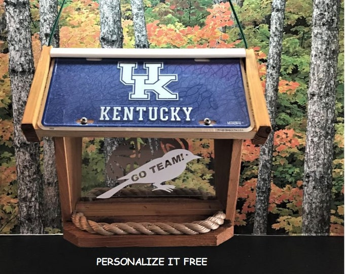 UK University of Kentucky Deluxe Cedar Two Sided Bird Feeder