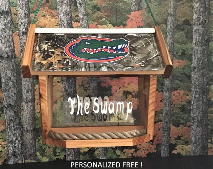 Florida Gators Deluxe Camouflage Cedar Two Sided Bird Feeder