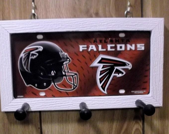 Atlanta Falcons License Plate Peg Hanger