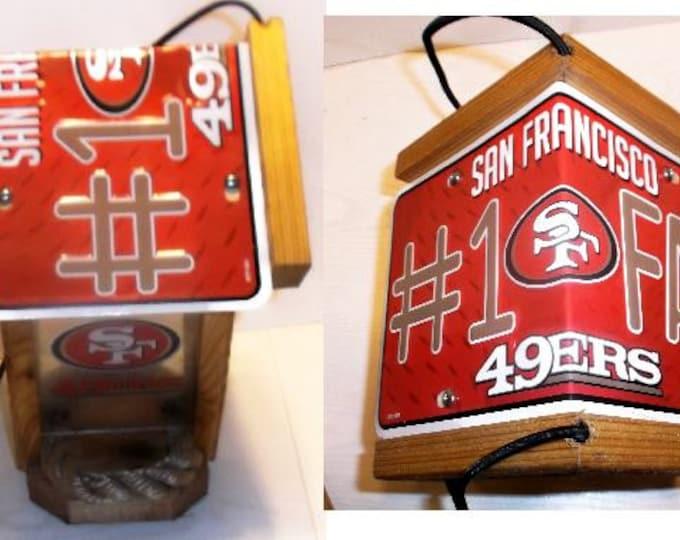 San Francisco 49ers #1 Fan Two-Sided Cedar Bird Feeder