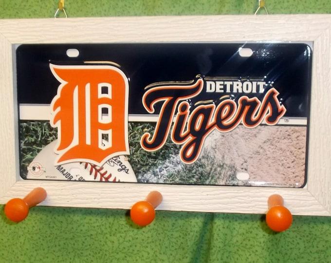 Detroit Tigers License Plate Peg Hanger