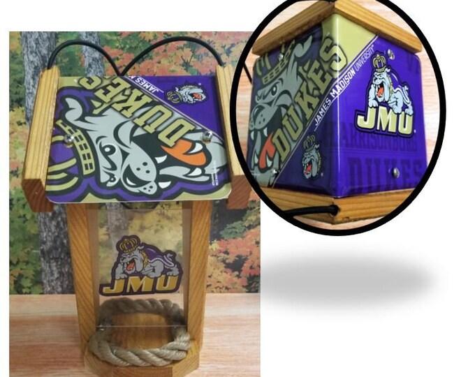 James Madison University Two-Sided Cedar Bird Feeder (SI Series)