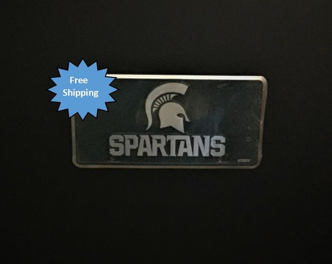 Michigan State Spartans Mosaic Aluminum License Plate