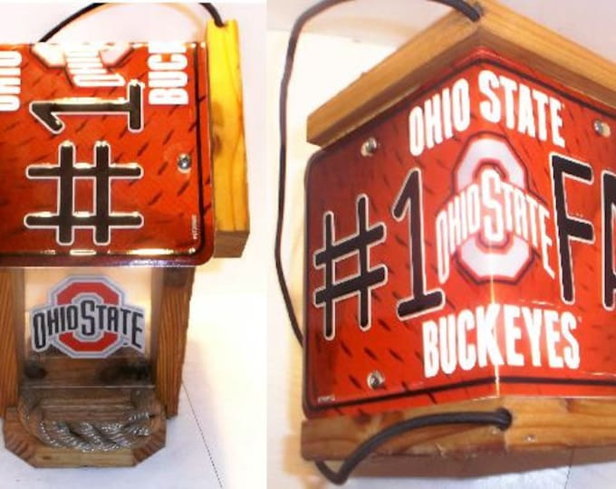 Ohio State #1 Fan Two-Sided Cedar Bird Feeder