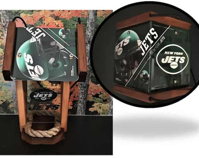 NY Jets Two-Sided Cedar Bird Feeder (SI Series)