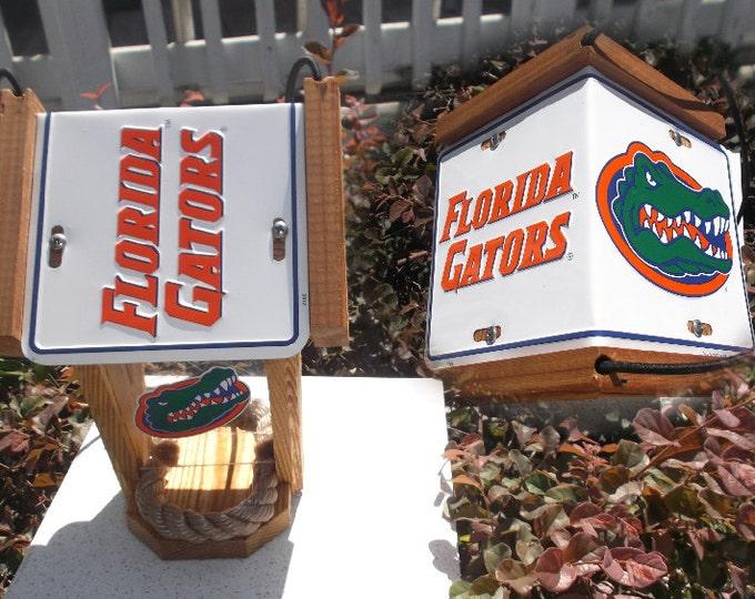 Florida Gators Two-Sided Cedar Bird Feeder (Style #2)