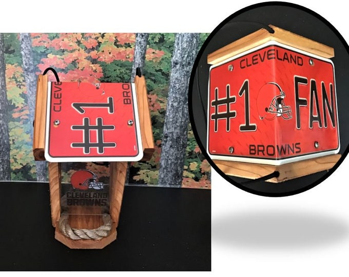 Cleveland Browns #1 Fan Two-Sided Cedar Bird Feeder