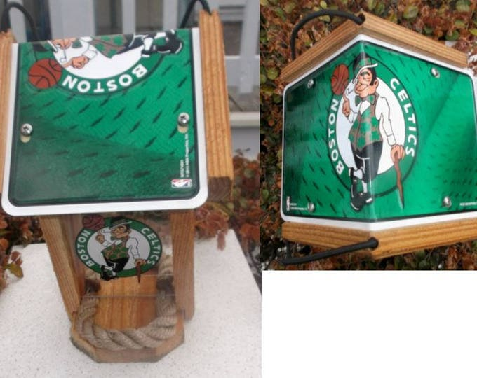 Boston Celtics Cedar Two Sided Bird Feeder