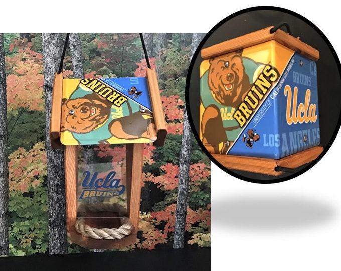 UCLA (Bruins) Two-Sided Cedar Bird Feeder (SI Series)