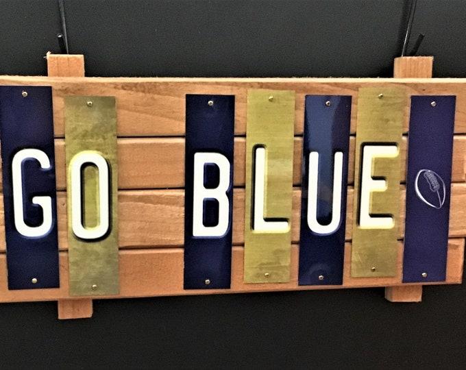 "Michigan Wolverines ""Go Blue"" Fun Strip Sign"