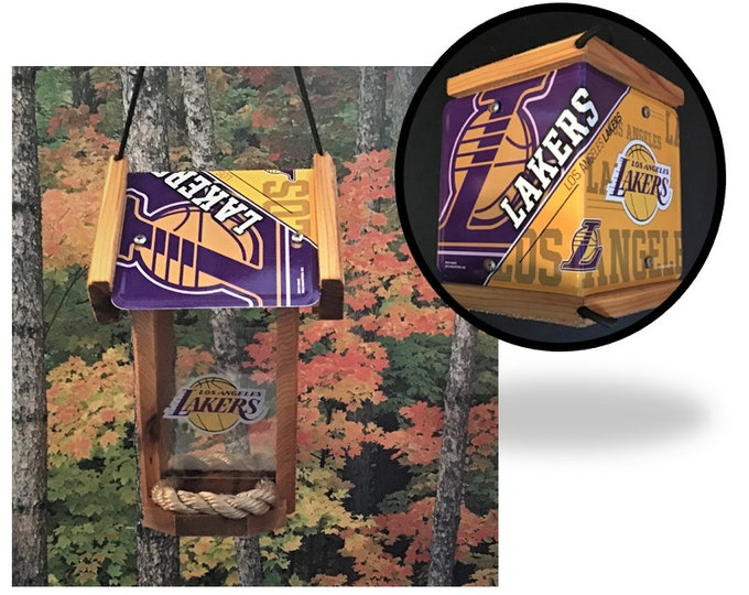 Los Angeles Lakers Cedar Two Sided Bird Feeder