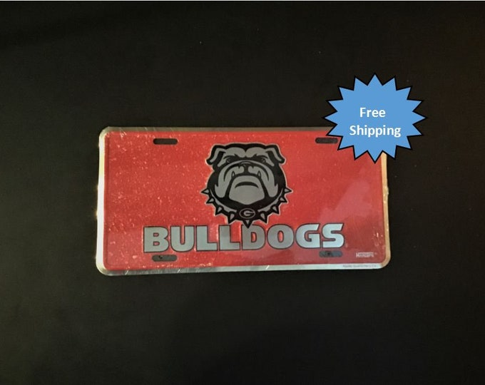 Georgia Bulldogs Mosaic Aluminum License Plate