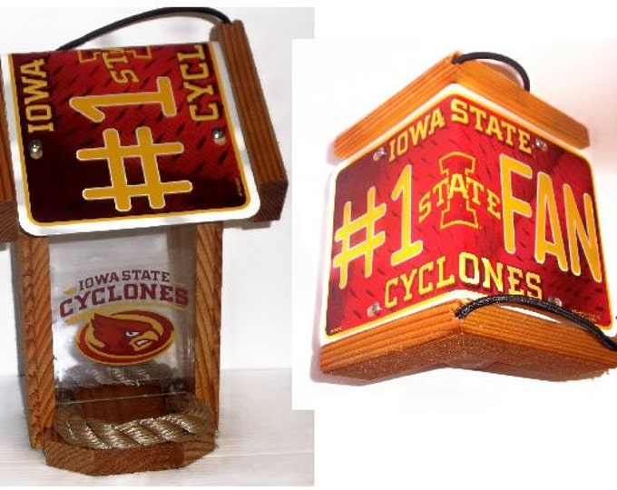 Iowa State Cyclones #1 FanTwo-Sided Cedar Bird Feeder