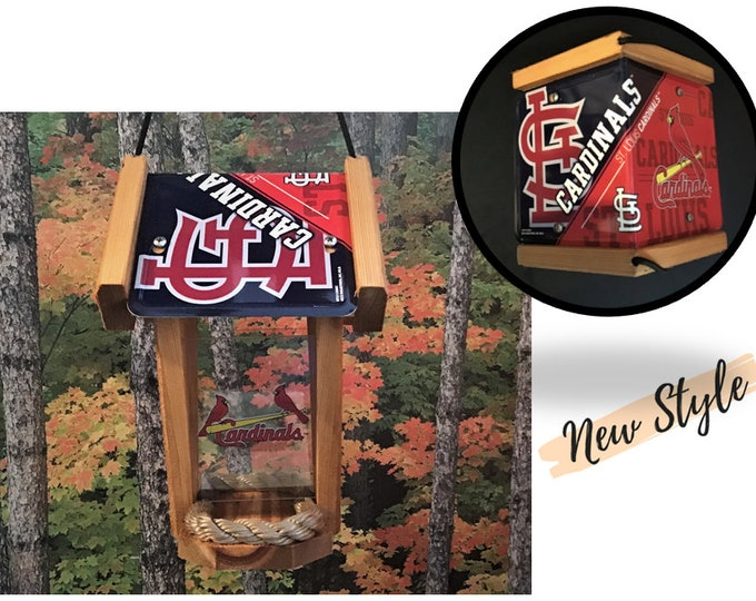 St. Louis Cardinals Two-Sided Cedar Bird Feeder (SI Series)