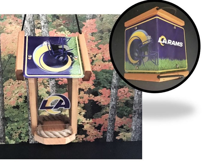 Los Angeles Rams Two-Sided Cedar Bird Feeder