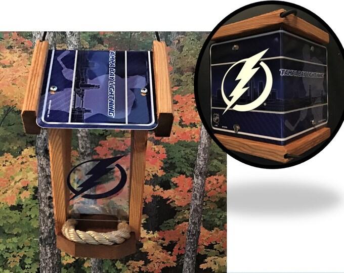 Tampa Bay Lightning Two-Sided Cedar Bird Feeder