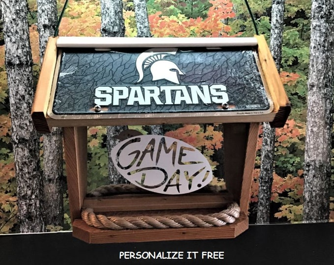 Michigan State Spartans Deluxe Cedar Two Sided Bird Feeder