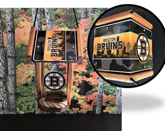 Boston Bruins Two-Sided Cedar Bird Feeder