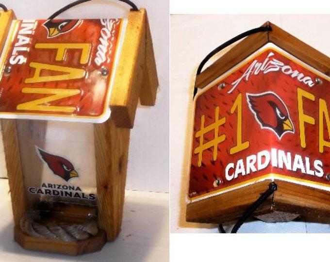Arizona Cardinals #1 Fan Two-Sided Cedar Bird Feeder
