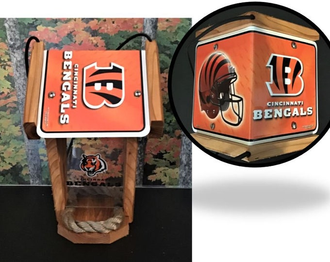 Cincinnati Bengals Two-Sided Cedar Bird Feeder