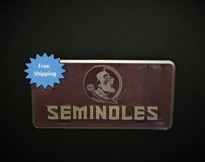Florida State Seminoles Mosaic Aluminum License Plate