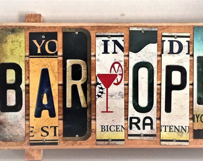 Bar Open Cut License Plate Strip sign