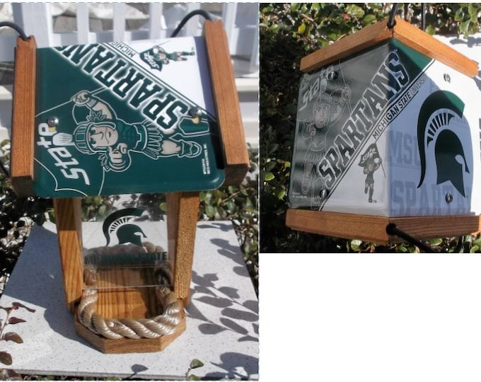 Michigan State University Spartans Two-Sided Cedar Bird Feeder (SI Series)
