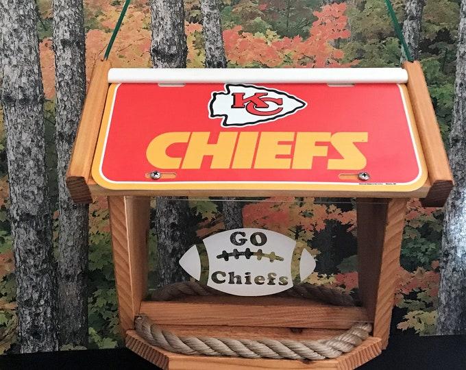 Kansas City Chiefs Deluxe Cedar Two Sided Bird Feeder