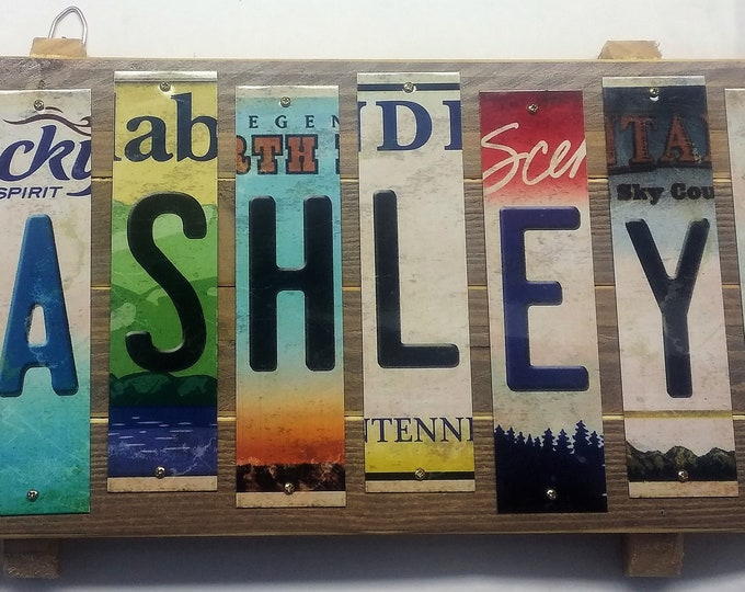 Personalized Cut License Plate Strip Sign Plaque