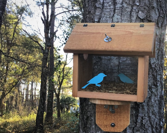 Cedar Blue Bird Feeder