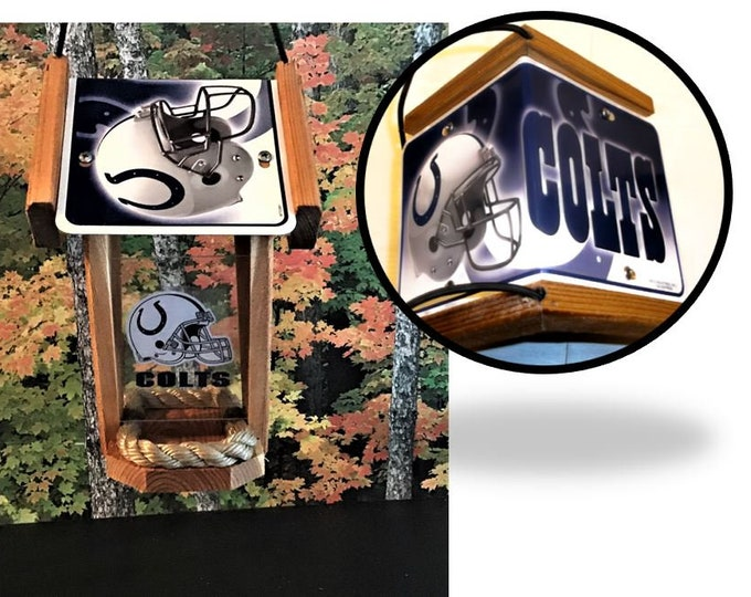 Indianapolis Colts Two-Sided Cedar Bird Feeder
