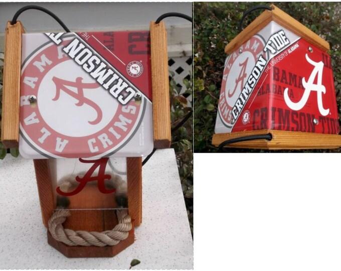 Alabama University Two-Sided Cedar Bird Feeder (SI Series)