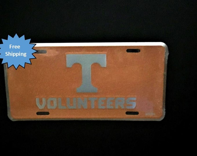 Tennessee Volunteers Mosaic Aluminum License Plate