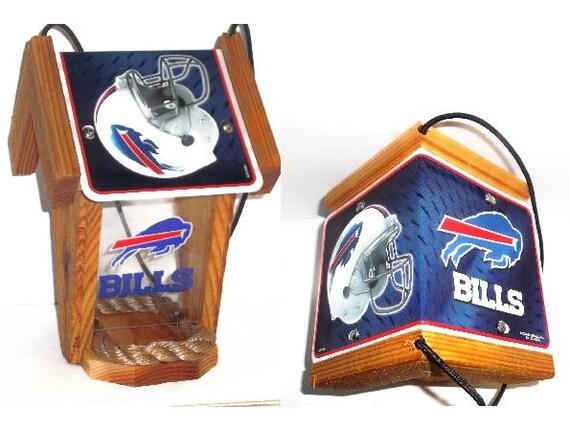 Buffalo Bills Two-Sided Cedar Bird Feeder