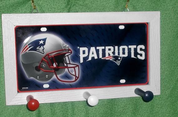 New England Patriots License Plate Peg Hanger