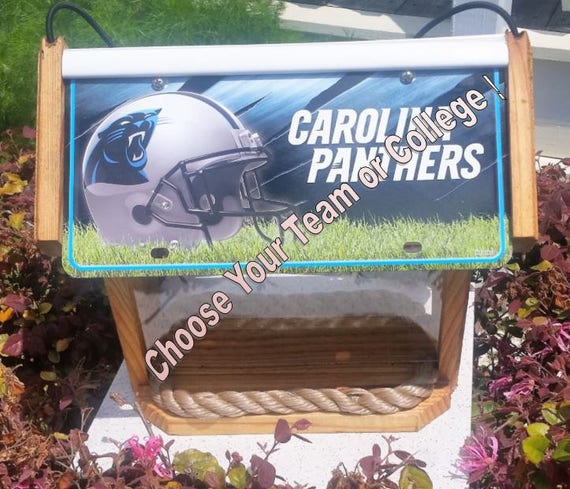 Custom two-sided cedar sport bird feeder (choose your team or college)