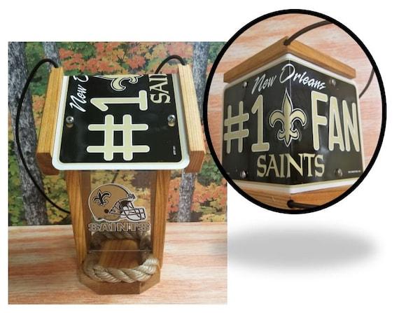 New Orleans Saints #1 Fan Two-Sided Cedar Bird Feeder