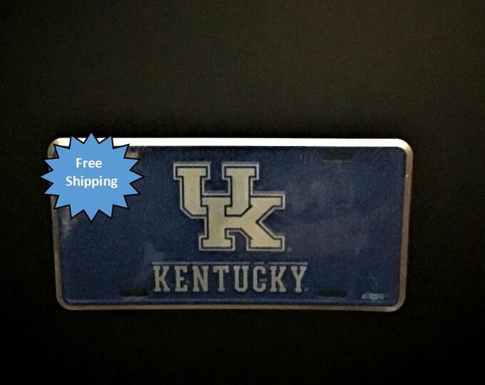 Kentucky University (UK) Mosaic Aluminum License Plate
